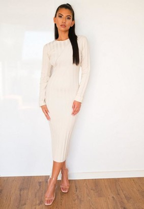 Missguided Extreme Rib Knitted Midaxi Dress