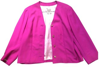 Celine Pink Synthetic Jackets