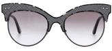 Bottega Veneta Leather-trimmed sunglasses