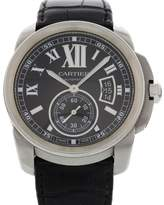 Cartier Calibre de 3389 Stainless Steel & Leather Automatic 43mm Mens Watch