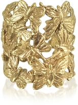 Bernard Delettrez Butterflies Flat Bronze Ring