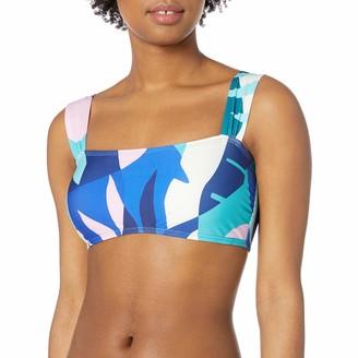 Splendid Women's Square Neck Bandeau Swimsuit Bikini Top