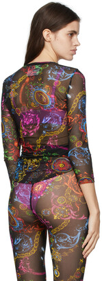 Versace Jeans Couture Black Regalia Baroque Print Long Sleeve T-Shirt