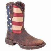 Durango Men's American Flag Square Steel Toe Brown Western Boots, DB020