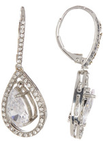 Betsey Johnson CZ Pave Dangling Teardrop Earrings