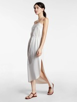 Halston Lightweight Flowy Dress With Embroidery