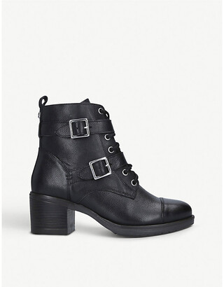 Carvela Stacey buckled leather boots