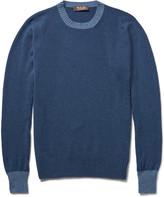 Loro Piana - Contrast-trim Baby Cashmere Sweater