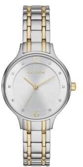 Skagen Anita Glitz Two-Tone Bracelet Watch