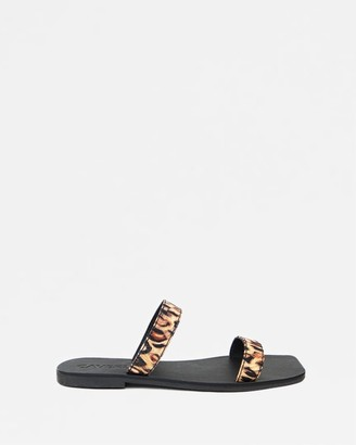 CAVERLEY Women's Brown Flat Sandals - Kay Slide - Size One Size, 37 at The Iconic
