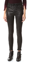 Rag & Bone High Rise Lace Up Leather Pants