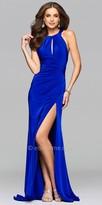 Faviana Draped Satin Gown
