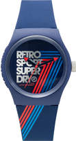 Superdry 3 Hands;Blue With Silver Text And Blue/Red Stripes Dial