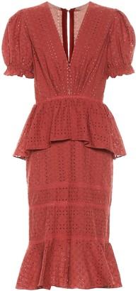 Johanna Ortiz Dandyism Spice cotton midi dress