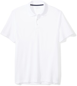 Amazon Essentials Slim-fit Quick-dry Golf Polo Shirt White XXL