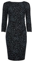 Dorothy Perkins Womens Billie & Blossom Petite Black Leopard Print Bodycon Dress, Black