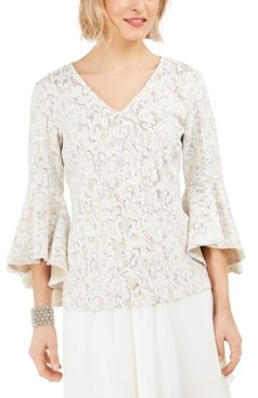 MSK Lace Bell-Sleeve Top