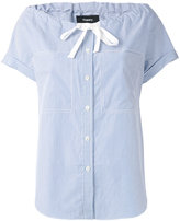 Theory bow detail blouse