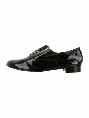 Christian Louboutin Patent Leather Oxfords Black