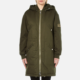 Kenzo Women's Cotton New York Paris Parka Jacket Dark Khaki