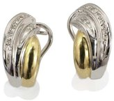 Tatitoto Vintage Women's Earrings in 18k Gold with Diamond H/SI (total diamonds 0.10 ct), 10 Grams