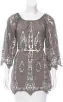 Miguelina Lace-Accented Bateau Top
