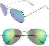 Lilly Pulitzer R) Lexy 59mm Polarized Aviator Sunglasses