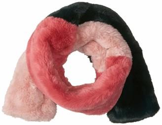 BCBGeneration Women's Colorblock Faux Fur Muffler