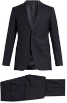 Lanvin Attitude-fit Micro-checked Wool Suit