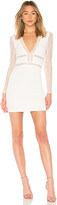 superdown Lauri White Deep V Lace Bodycon