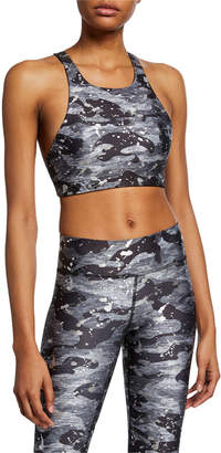 Terez Reversible Foil-Print Sports Bra