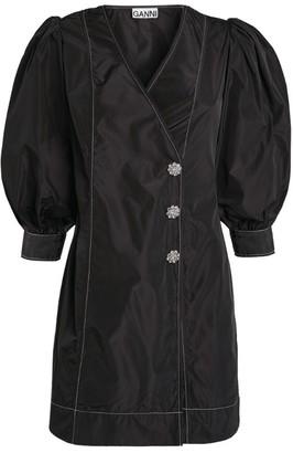Ganni Button-Up Dress