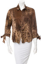 Roberto Cavalli Silk Button-Up Top