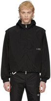 Heliot Emil Black Zip-Off Track Jacket
