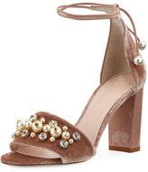 Kate Spade Iverna Velvet Embellished City Sandal