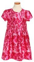 Oscar de la Renta Girl's Wild Roses Mikado Dress