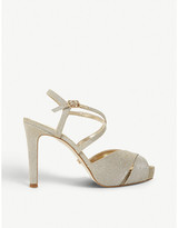Dune Mishaa metallic platform sandals