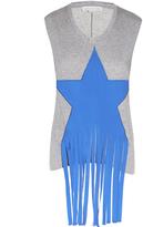 Stella McCartney Fringed star-embellished jersey tank top