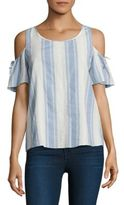Cooper & Ella Mia Cold Shoulders Tie Top