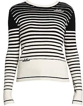 Valentino Women's Cashmere & Wool Stripe Knit Sweater