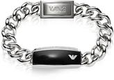Emporio Armani Silver Tone Stainless Steel Men's Bracelet