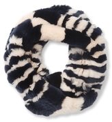 Surell Rex Rabbit Knitted Infinity Scarf