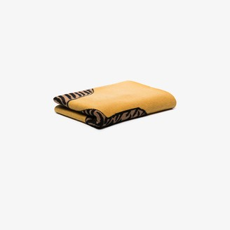 SAVED NY Yellow Tiger Rug cashmere throw