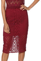 Bardot Calista Lace Pencil Skirt