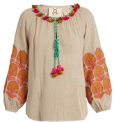 Figue Coco embroidered cotton top