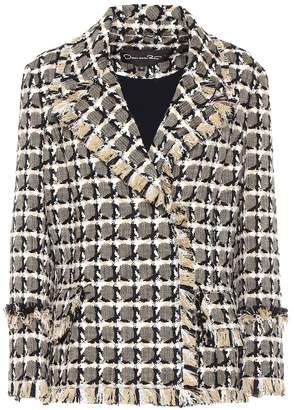 Oscar de la Renta Cotton and wool-blend tweed jacket