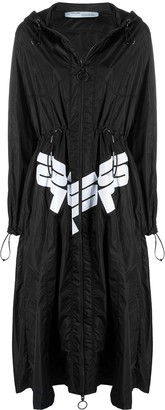 Off-White Logo Print Raincoat