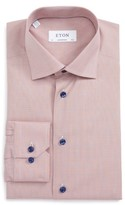 Eton Men's Contemporary Fit Houndstooth Dress Shirt