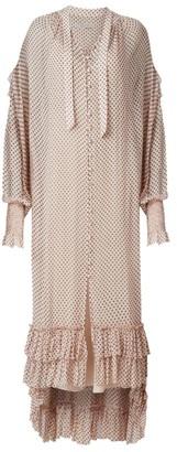 AllSaints Lara Dot High-Low Midi Dress
