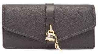 Chloé Aby Grained-leather Continental Wallet - Womens - Black